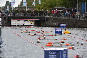 360swim floats take part in Amsterdam City Swim